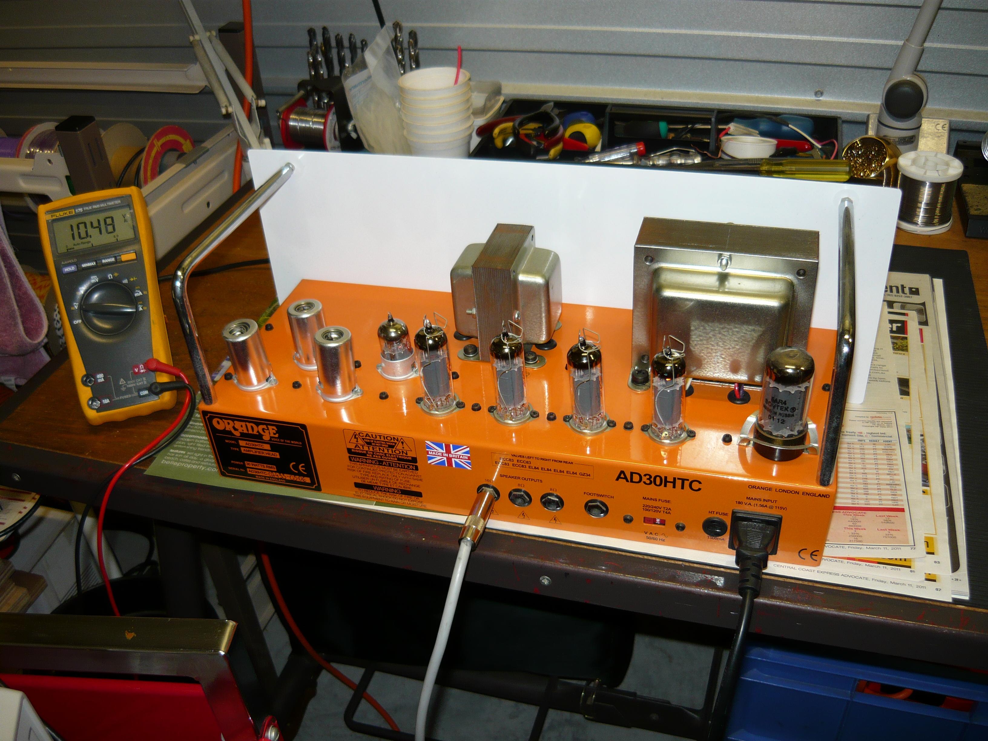 A hard working Orange amplifier   ivanrichards Orange Ad Schematic on