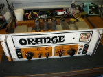 Orange Graphic 100 chassis front view prior to overhaul