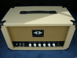 Blue Mood EL34 head in rough blonde tolex