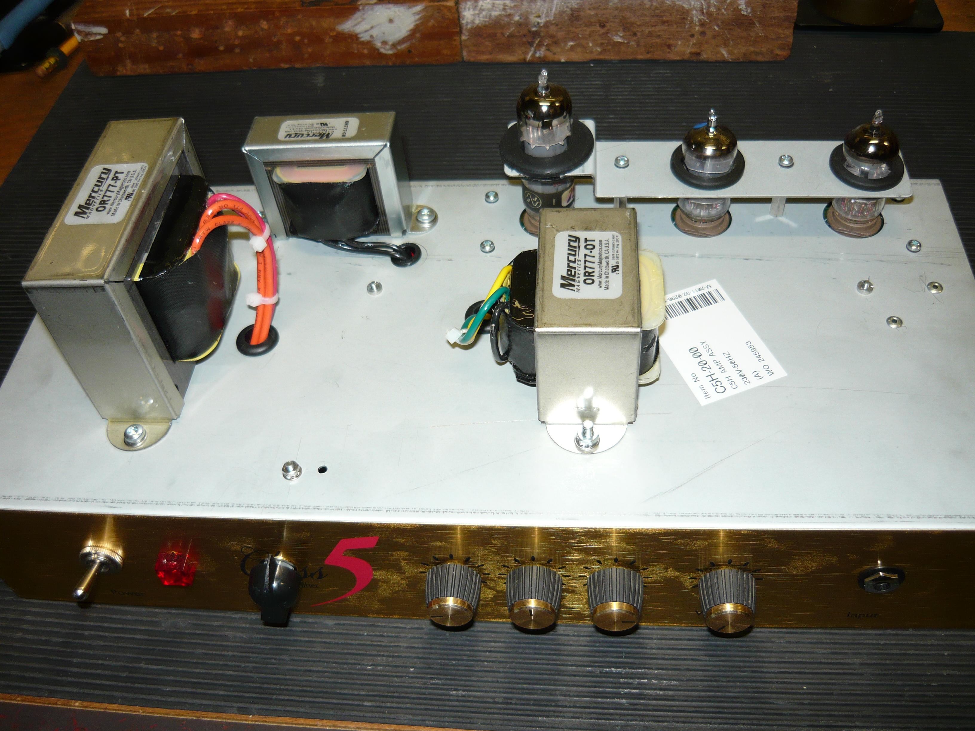 MODs to the Marshall Class 5 amplifier | ivanrichards
