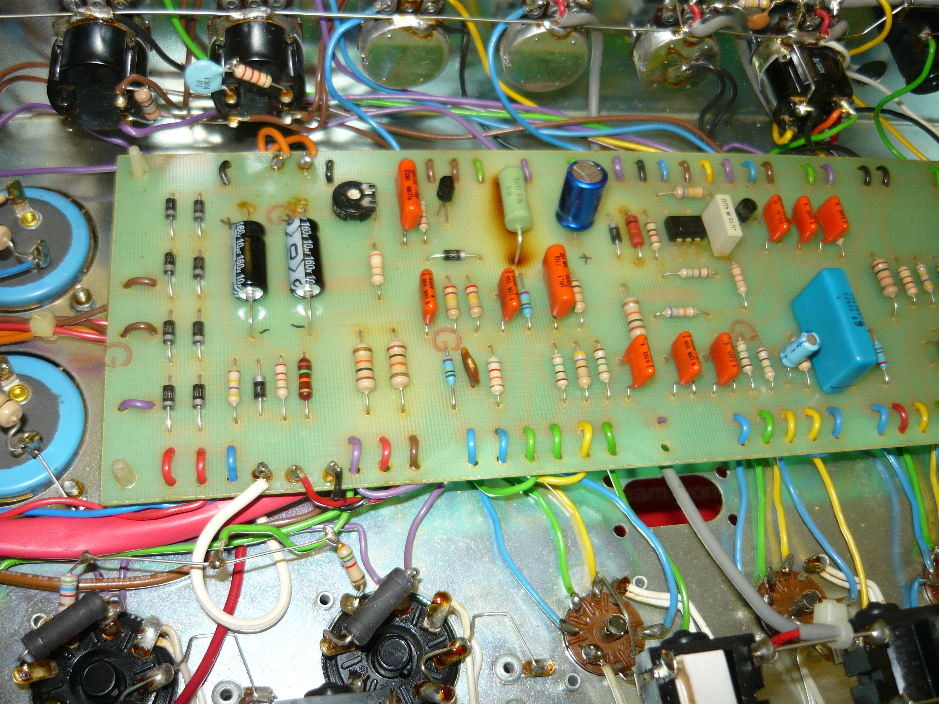 Amp Repair Ivanrichards Page 2 Vox Ac15 Schematic Additionally Passive Tone Control Circuit Besides Repairs Completed And Board Reinstalled