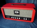 Expressionist 15W head in vintage red tolex with checkerboard grille